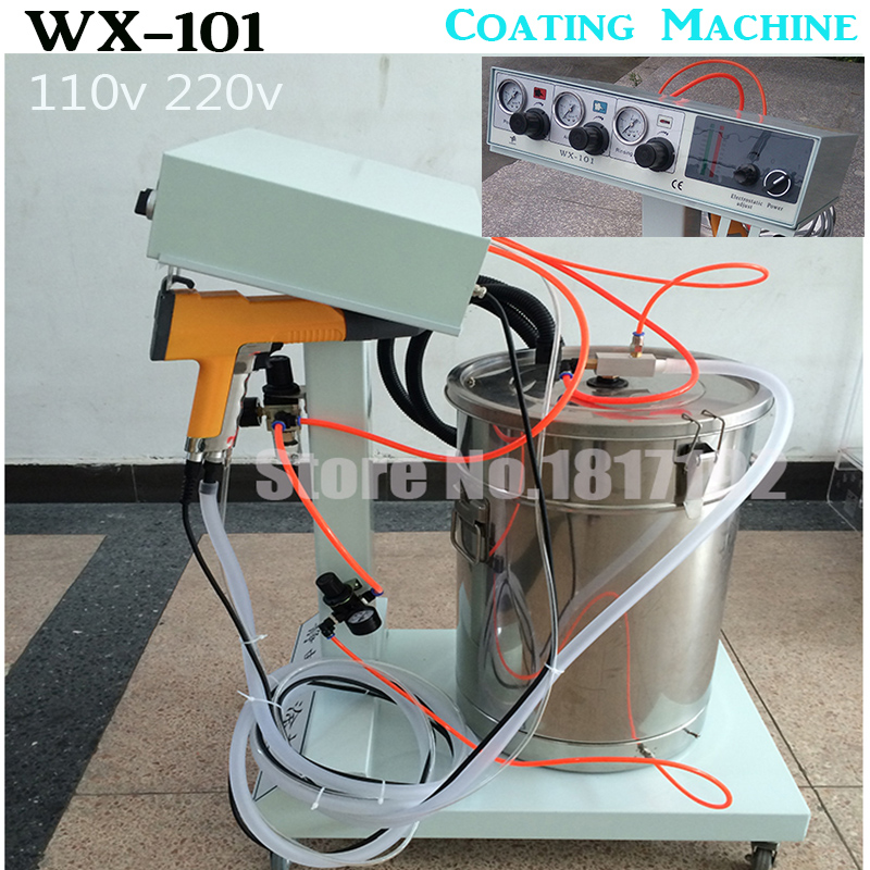 цена Electrostatic Powder Coating machine WX-101 Electrostatic Spray Powder Coating Machine Spraying Gun Paint AC 110v 220v,ship DHL