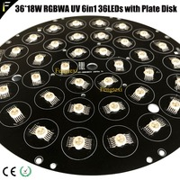 36x10w 36x12w 36x18w LED Moving Head Light 36 LEDs with Disk Plate RGBW RGBWA RGBWA UV Embed LED Plate Assembly Replacement