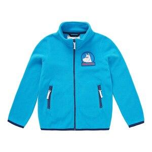 Image 4 - Muminki 2019 nowa dziecięca kurtka polarowa jesienna kurtka charakter niebieski zamek polar na co dzień płaszcz dziecięcy