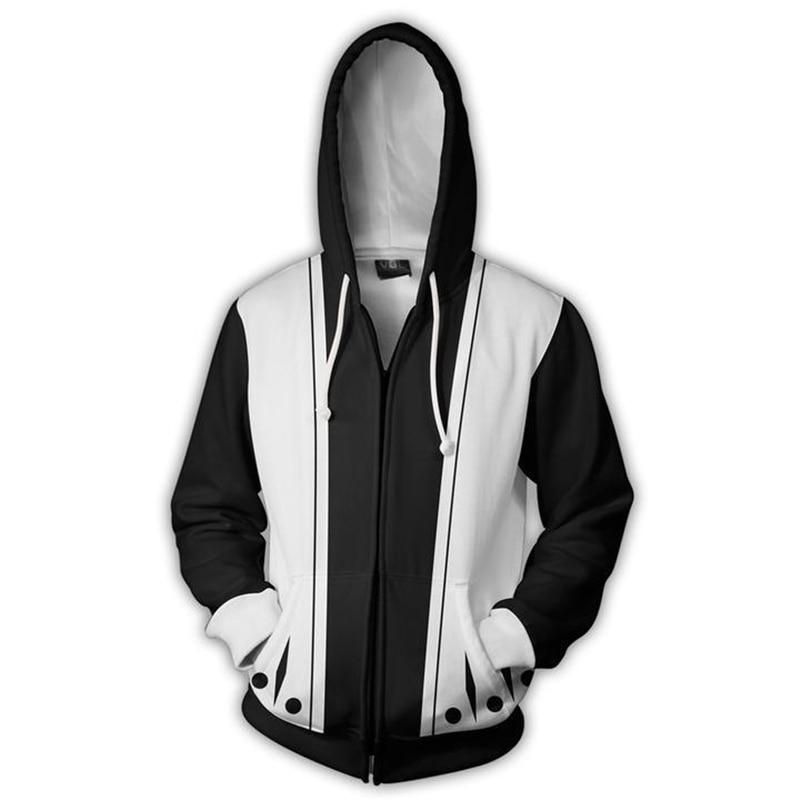 BLEACH Costumes Kenpachi Zaraki Sweatshirt Cosplay men women Anime 3D Printed Sweatshirt zipper Cartoon hooded sweater Jackets