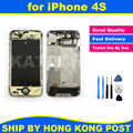 Шасси Новый Полный Запчасти для iPhone 4S Ближний Рамка Рамка Midframe Корпус в Сборе Замена Части + Ремкомплект Tool