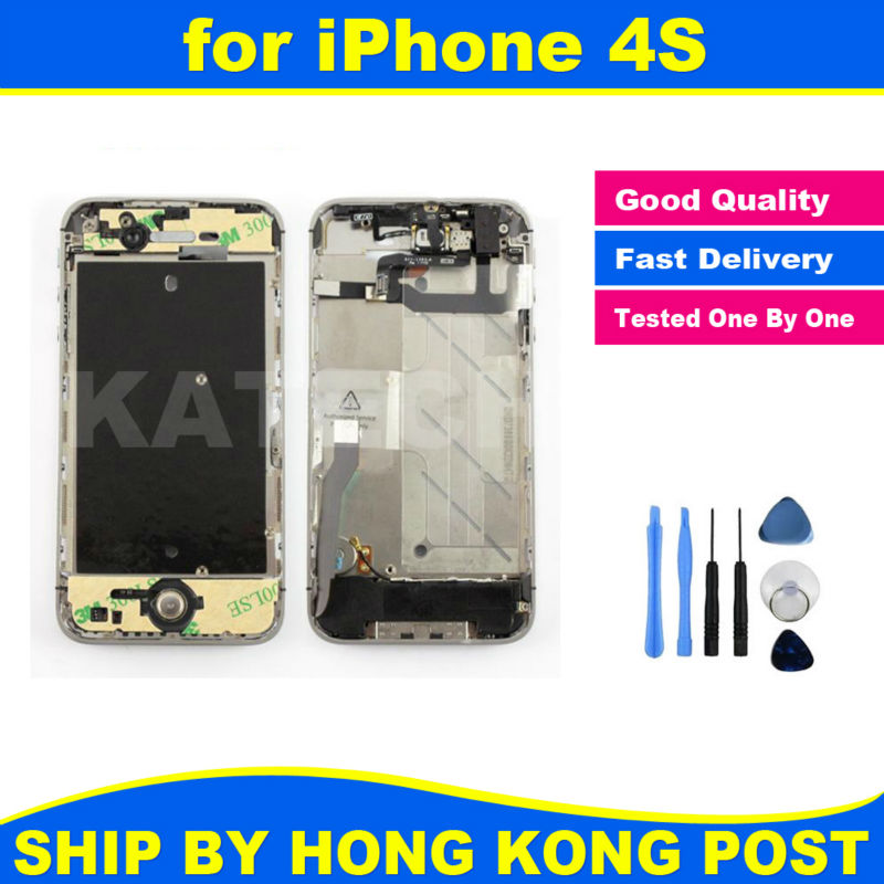 Chassis New Full Parts for iPhone 4S Middle Frame Bezel Midframe Housing Assembly Replacement Parts Repair