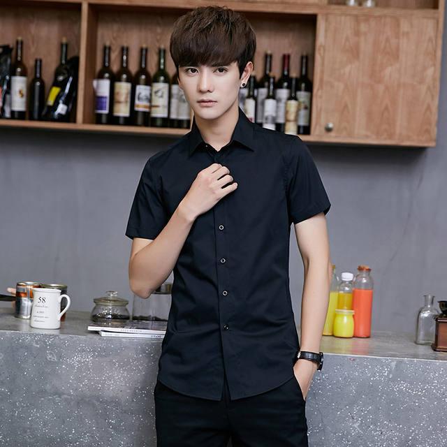 The 2018 trendy korean-style men's top T-shirt