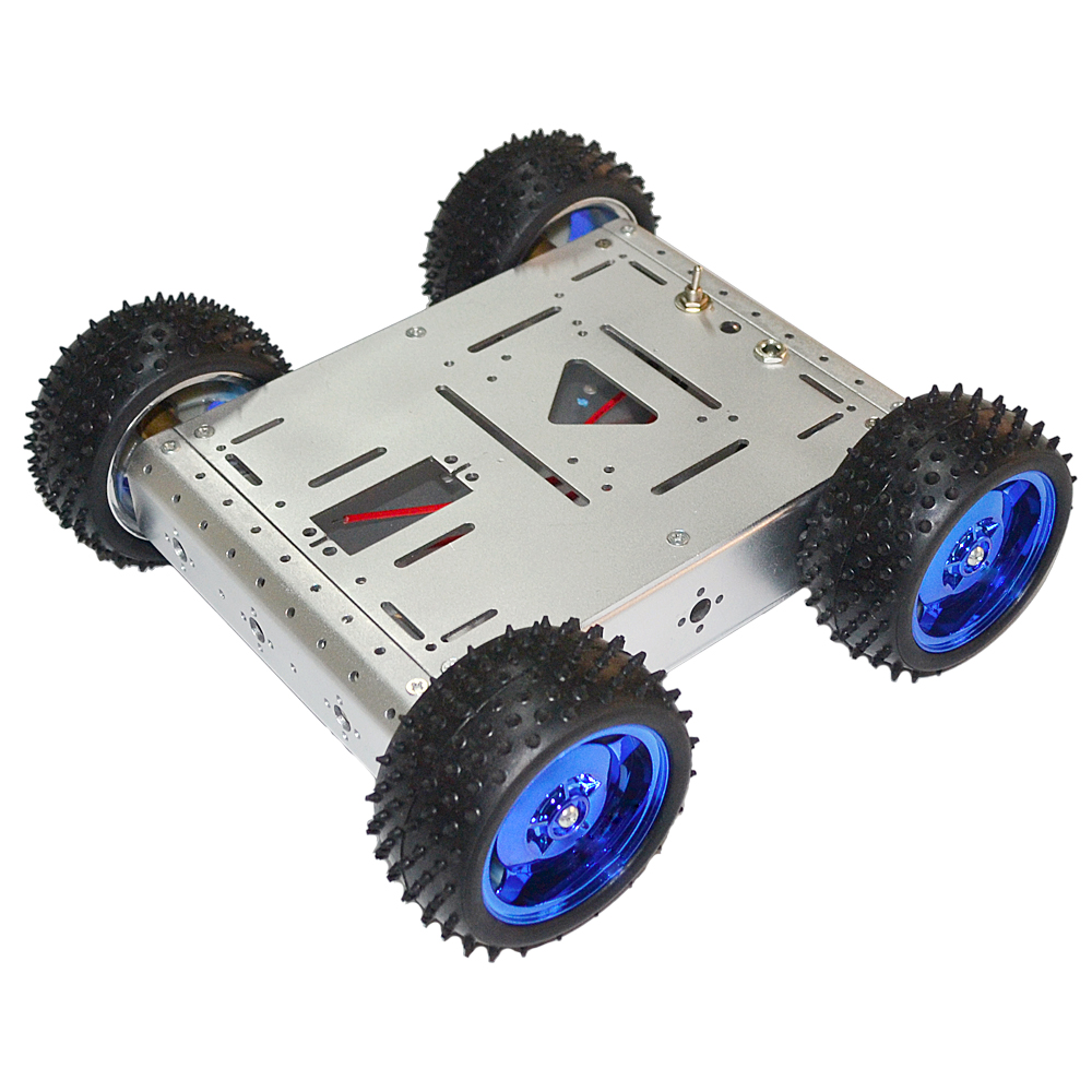 Smart Home Keyes 4wd Smart Robot Car Kit Double Layer Smart Car Chassis For Arduino Electric Toy Diy Kit