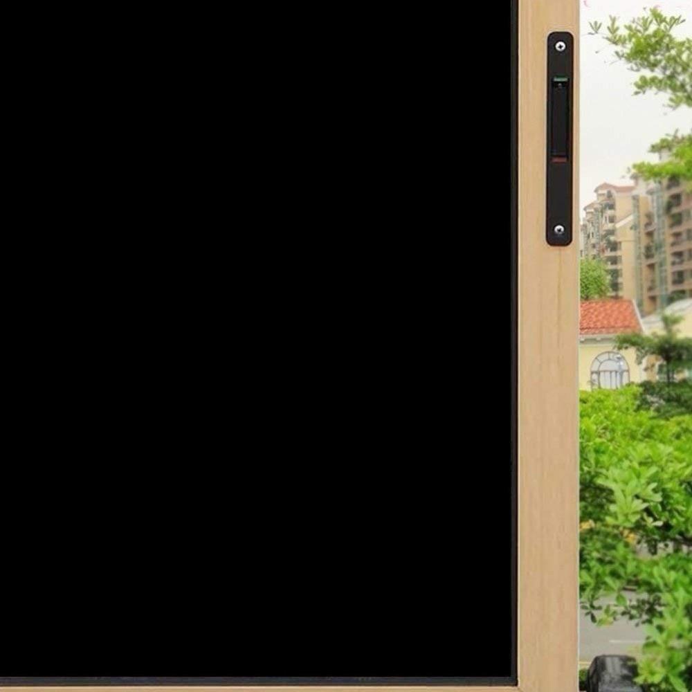 152 cm * 500 cm 0% lumière Transmission noir maison fenêtre autocollant solaire teinte fenêtre Film UV réfléchissant PET Film 60 ''x 196.8''