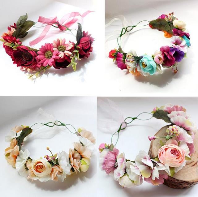 bride headdress head flower korean handmade aesthetic simulation