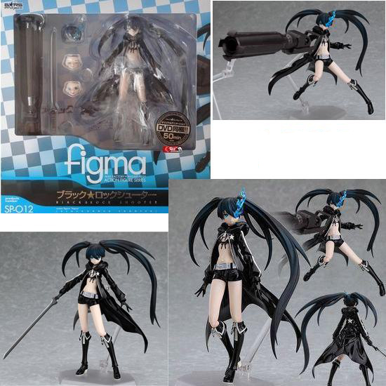 Cosplay Figma Black Rock Shooter 15cm/5.9'' Boxed GK Garage Kits Action Figures Toys Model купить