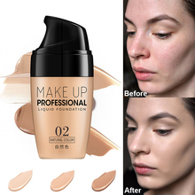 Face Liquid Foundation Cream Waterproof Long Lasting Whitening Concealer Makeup Full Coverage Matte Base Make Up Natural sace lady perfecting concealer makeup natural waterproof full coverage concealer long lasting brightening matte creamy concealer