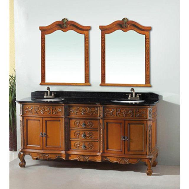 luxury vanity cabinet double sinks bath vanity antique bathroom furniture  0281 - Online Shop Luxury Vanity Cabinet Double Sinks Bath Vanity Antique
