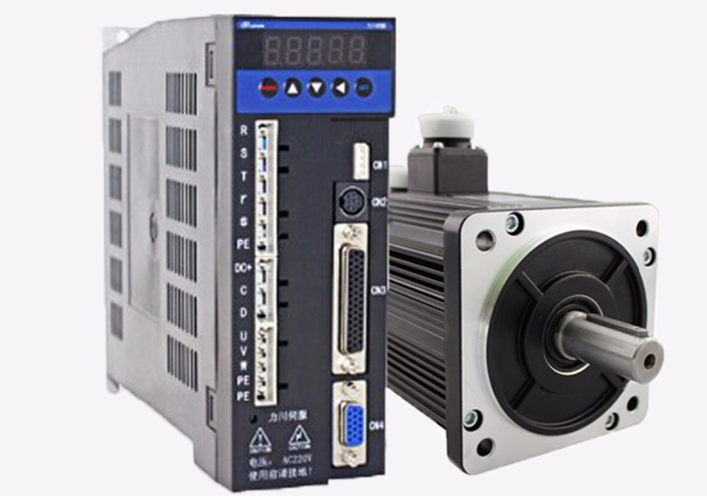 3phase 220V 1200w 1.2kw 4N.m 3000rpm 110mm AC servo motor drive kit 2500ppr with 3m cable dcs810 leadshine digital dc brush servo drive servo amplifier servo motor controller up to 80vdc 20a new original