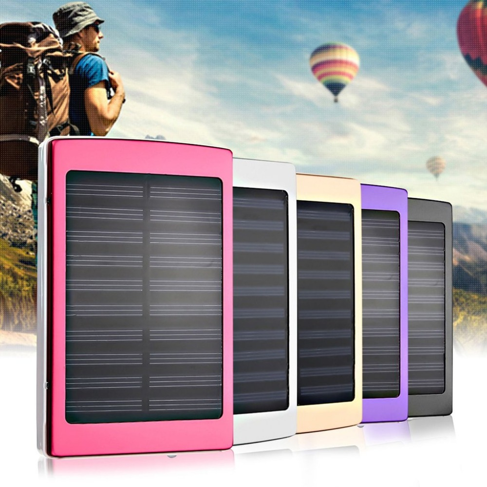 Portable Size 50000mAh Large Capacity Solar Panel Power Bank Outdoor External Battery Charger for Smartphones Promotions New hot