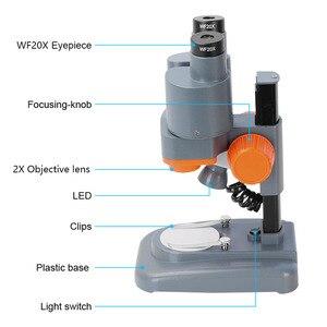Image 3 - AOMEKIE Binocular Stereo Microscope 20X/40X Above LED Lights PCB Solder Tool Mobile Phone Repair Mineral Watching Microscopio