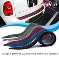 Borracha carro Rear Guard Bumper Protetor Trim Tampa placa de etiqueta do carro para Mini Cooper r55 r56 r60-car styling