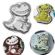 3D ไดโนเสาร์รูปร่างเค้กคุกกี้แม่พิมพ์ Fondant เค้กตกแต่งเครื่องมือแม่พิมพ์เยลลี่ Pastry Baking เครื่องมือ