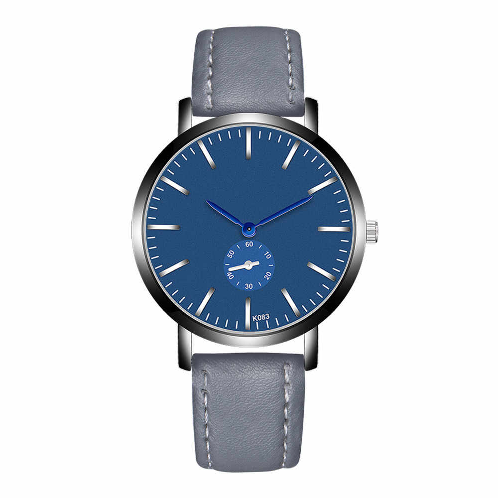 Reloj de 2019 para Hombre, nueva moda, marca de lujo, diseño Retro, de alta calidad, de cuero, Reloj Masculino, Reloj para Hombre