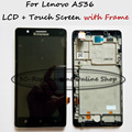 100%Tested Black/White LCD+TP+Frame For Lenovo A536 LCD Display + Touch Screen Digitizer Smartphone Replacement + Order Tracking