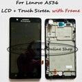 100% testado preto/branco lcd + tp + quadro para lenovo a536 substituição display lcd + digitador da tela de toque do smartphone + ordem de rastreamento