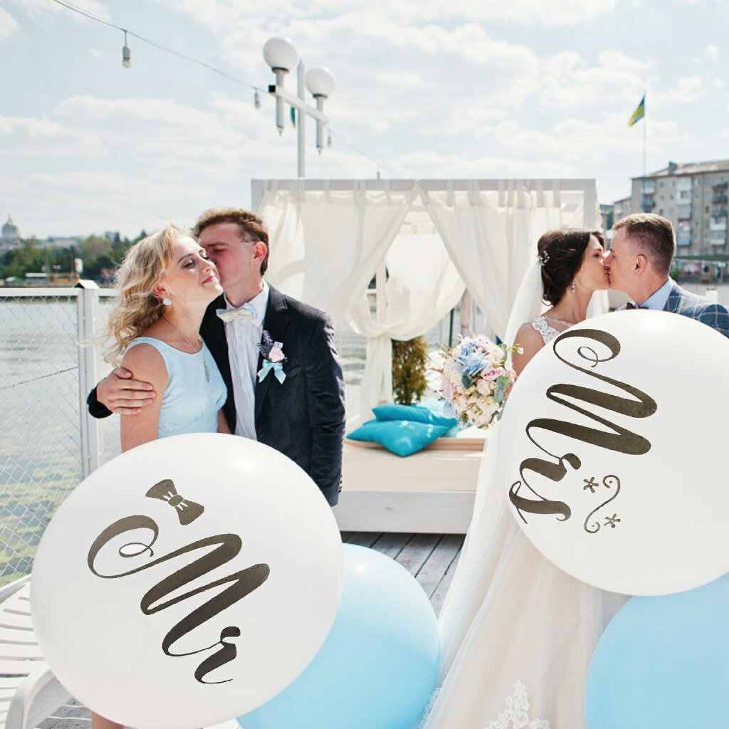 Mr&Mrs Latex Balloons Wedding Balloon Set Round Air Helium Balloon Bachelorette Party Air Balloon Wedding Event & Party Supplies