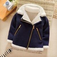 Fleece jacket zipper coat outwear children baby boy fleece toddler boy coat thicken warm winter parka korean fashion clothesB118