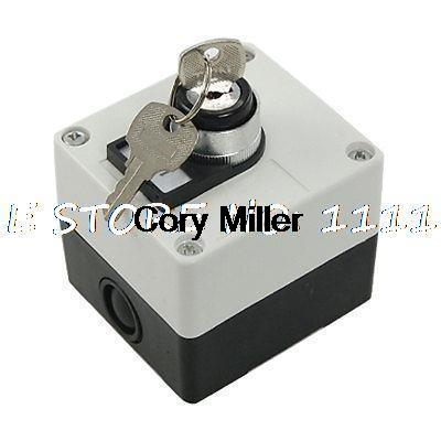 Electrical Ui 660V Key Locking Rotary Switch Station 660v ui 10a ith 8 terminals rotary cam universal changeover combination switch
