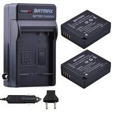 2ชิ้นDMW BLG10 BLG10E DMW BLG10PPแบตเตอรี่+ ACชาร์จสำหรับPanasonic DMC GF6 GF3 GF5 GX7 GX80 GX85 GX7 Mark II, DMC TX1 DMC LX100