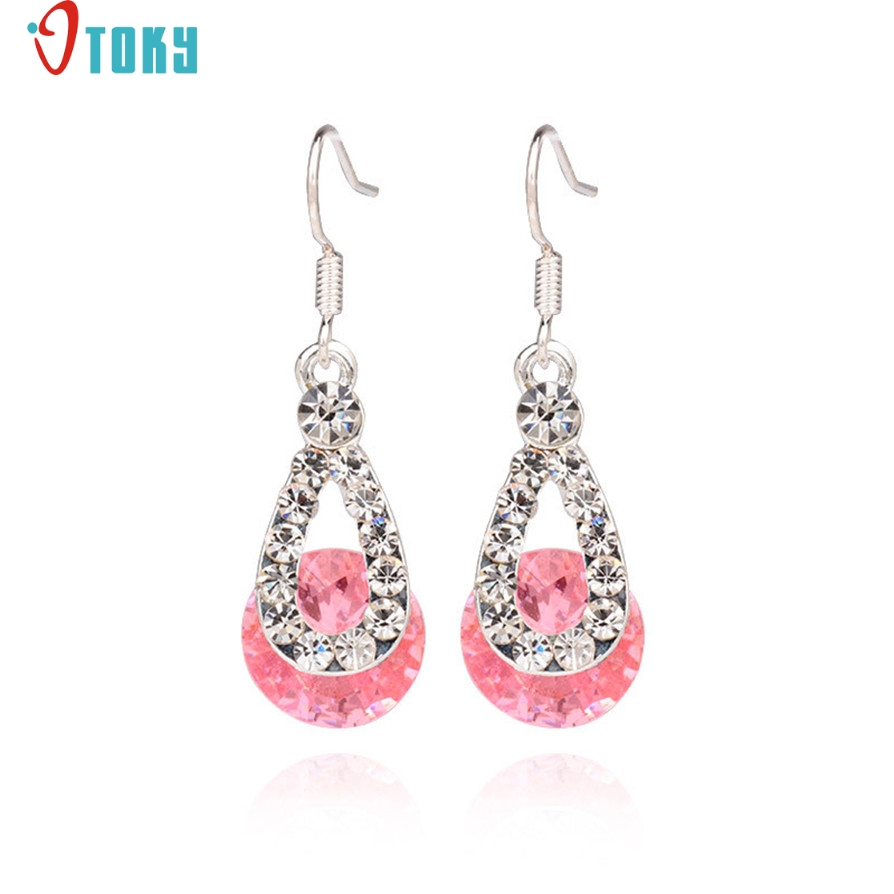 Earrings OTOKY Gussy Life Big Crystal Fashion Long Paragraph Brilliant Earrings Mar10