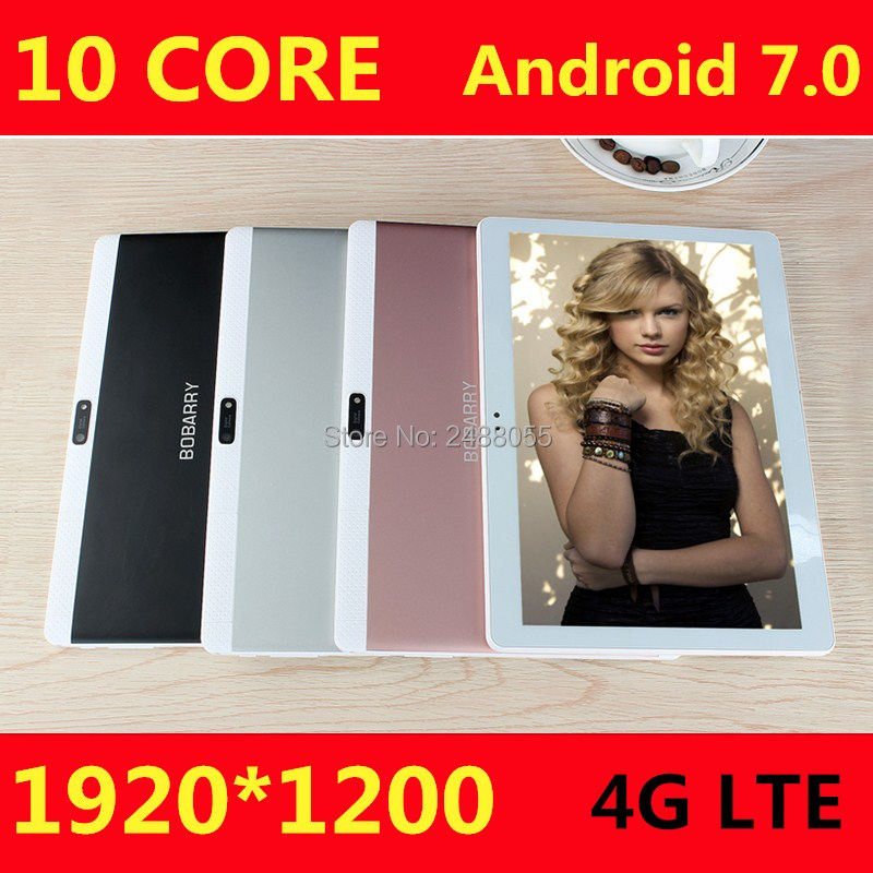 Envío libre de DHL 10 Core 4G FDD LTE Android 7.0 10 pulgadas Tablet deca Core 4 GB RAM 128 GB ROM 8MP bluetooth GPS tableta 10.1