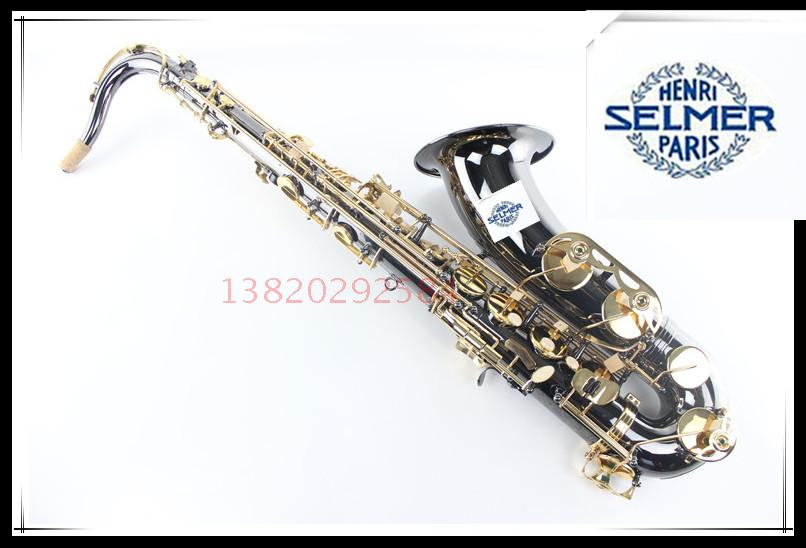 Top Music France Selmer  54 / B flat tenor saxophone instruments black nickel gold free shipping книги питер русские изобретатели головоломки лабиринты 5