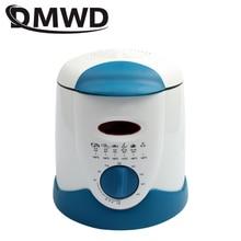 DMWD бездымного многофункциональная сковорода 0.9л Мини электрическая масляная фритюрница печь Картофель фри гриль курица жареная рыба горшок машина ЕС