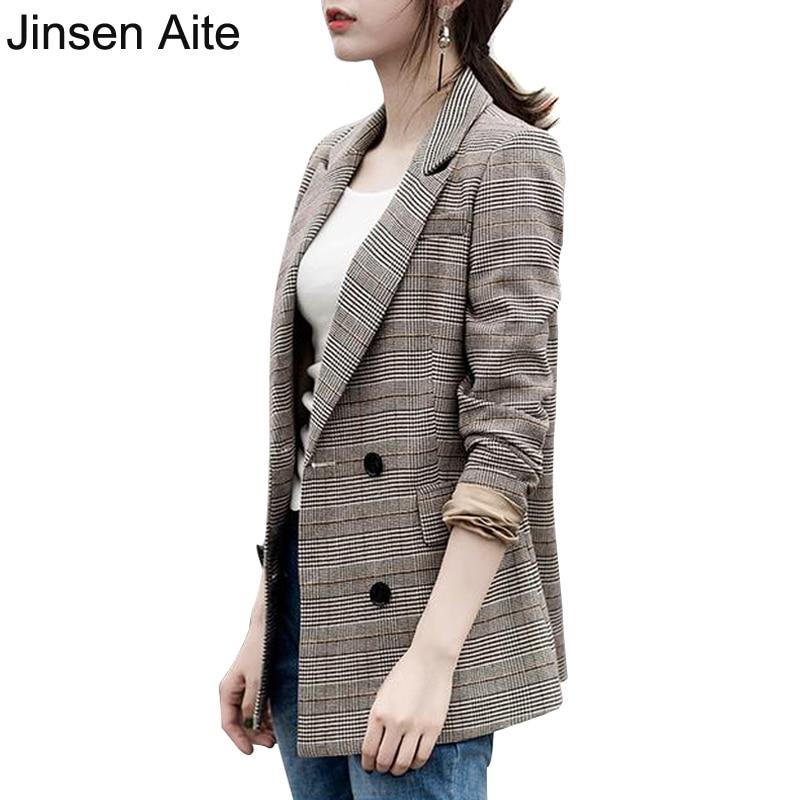 Blazers Box Office: Aliexpress.com : Buy Jinsen Aite 2018 New Women Plaid