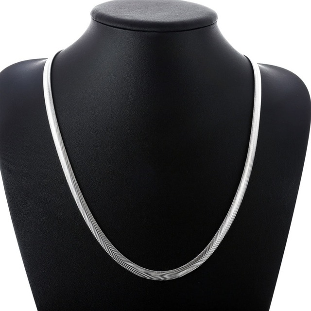 6M soft snake bone 925 Sterling Silver Necklaces 16-24 inch simple snake silver Necklace Women Chain Kids Girl Jewelry Slim Thin
