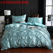 LOVINSUNSHINE Bedding Set Duvet Cover Comforter Flower Bed Linen US King Size Silk Duvet Cover Set AN01#