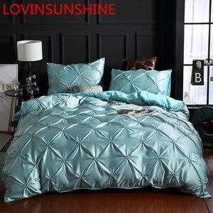 Image 1 - LOVINSUNSHINE Bedding Set Duvet Cover Comforter Flower Bed Linen US King Size Silk Duvet Cover Set AN01#