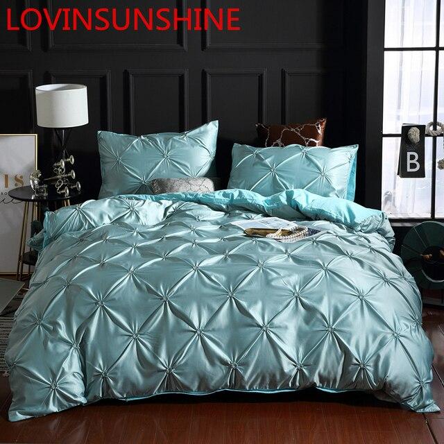 LOVINSUNSHINE Bedding Set Duvet Cover Comforter Flower Bed Linen US King Size Silk Duvet Cover Set AN01#