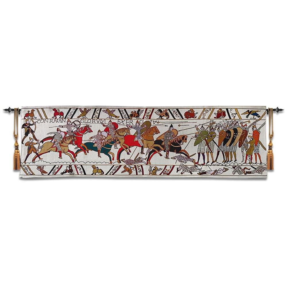 45x138 cm bayeux 태피스트리 벽 교수형 벨기에 아트 코튼 벽 천으로 모로코 장식 wandkleed goblen la reine mathilde-에서태피스트리부터 홈 & 가든 의  그룹 1