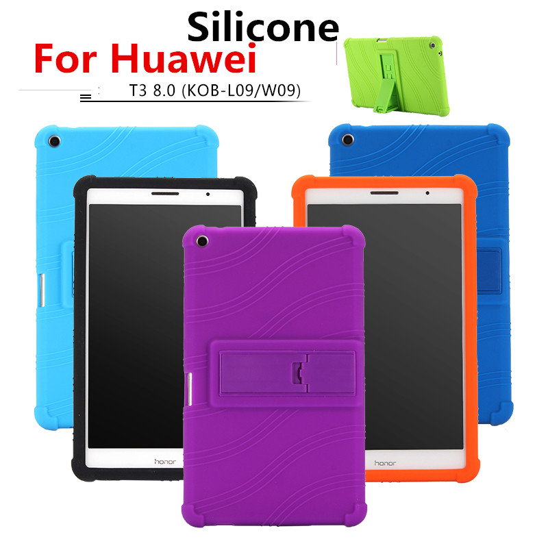 Soft Back Cover for Huawei MediaPad T3 8.0 KOB-L09 KOB-W09 stand Soft Silicone Back Cover Case for huawei T3 8.0 tablet case fashion case for huawei mediapad t3 8 0 kob w09 kob l09 tablet pc for huawei mediapad t3 case cover