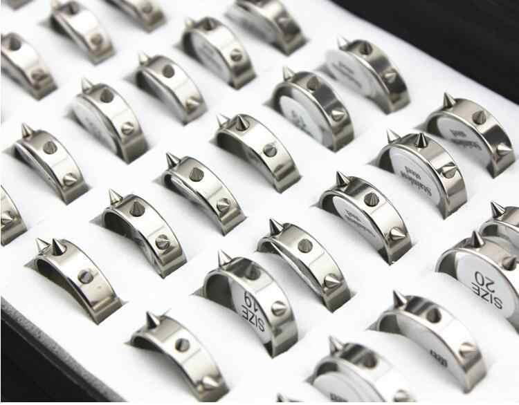 Anillos de remache para mujeres joyería fiesta moda accesorios anillo hombres wj196