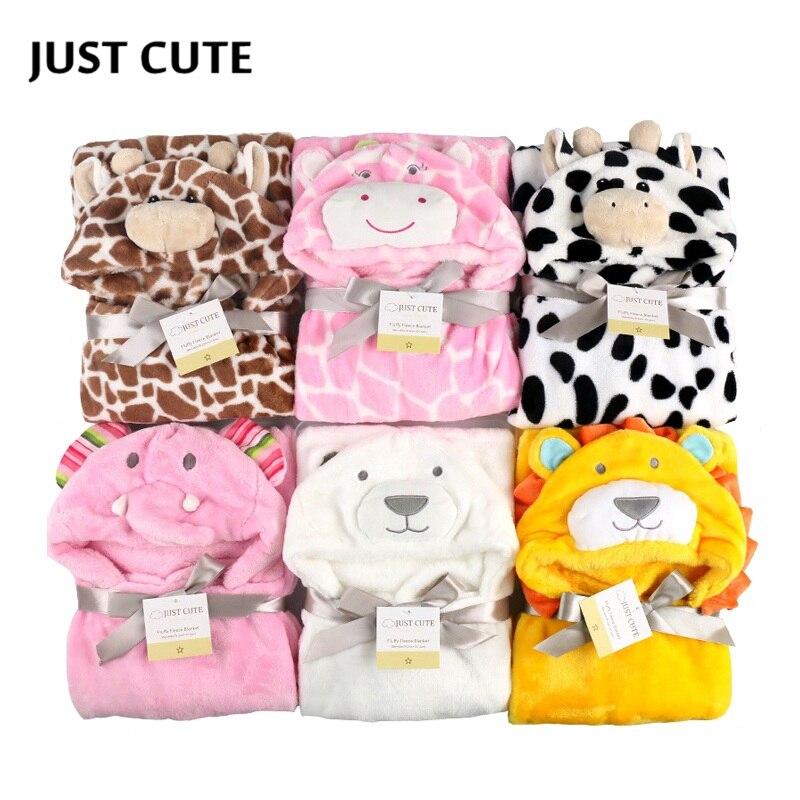 3D Baby Blanket Neonatal Hold Flannel Hooded Blankets Swaddling For Toddlers Infant Envelope For Newborns Hooded Bathrobe Towel
