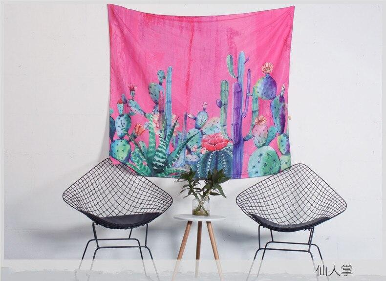 Cactus tenture Tapisserie Bohème Plage Jeter Serviette Boho couverture hippie Mur Décoratif Tapis pour Salon 150*200 cm