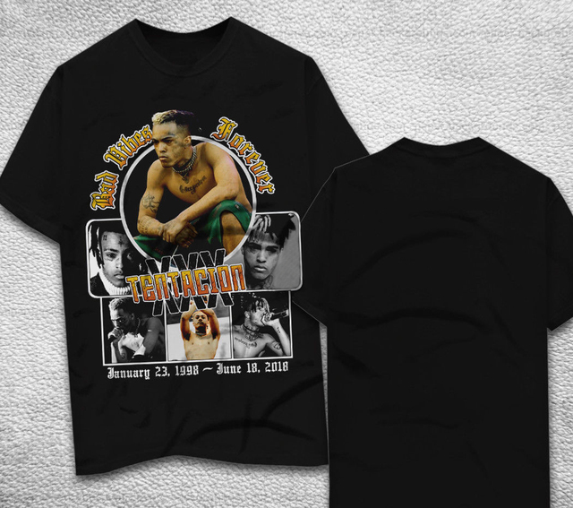 US $14 86 |XXXTENTACION T shirt BAD VIBES FOREVER tee t shirt Top Harajuku  Short Sleeve Shirt O Neck Short Sleeves Boy-in T-Shirts from Men's Clothing