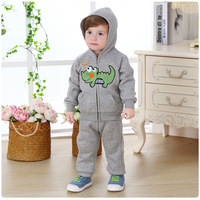 New 2017 Brand Spring Autumn Baby Boys Clothing Sets Winter Thick Fleece Fashion Coat Pants Girls