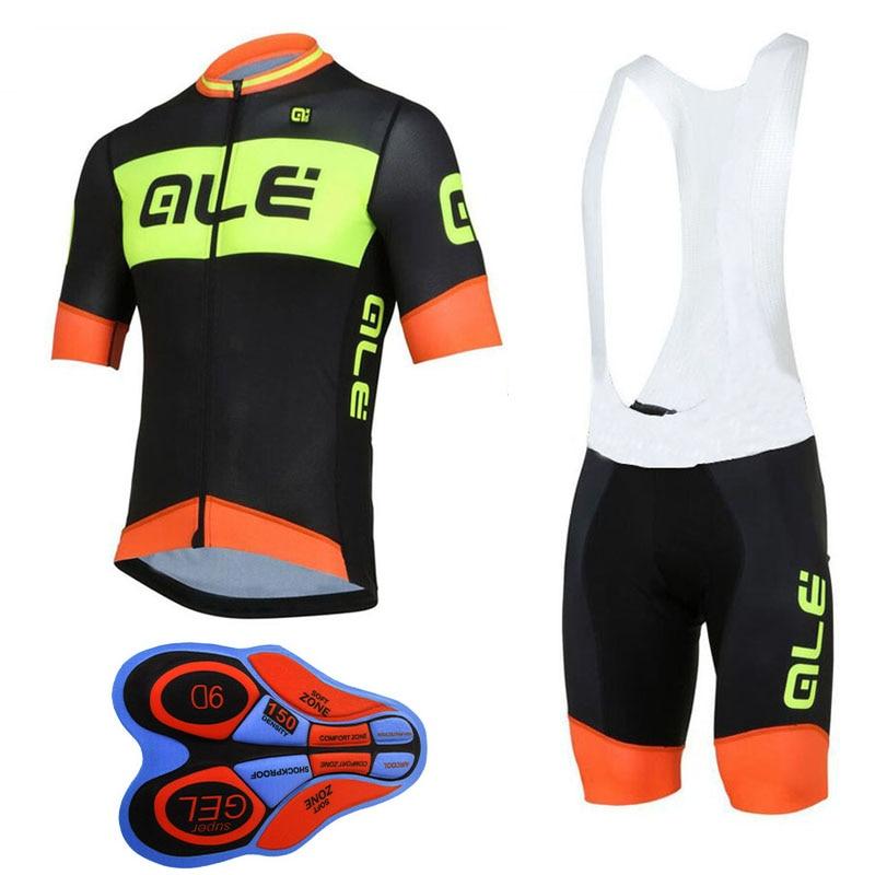 Prix pour 2017 pro équipe ale cyclisme vêtements à manches courtes vélo maillot set rapide-sec montagne vélo vêtements respirant usage de bicyclette E0401