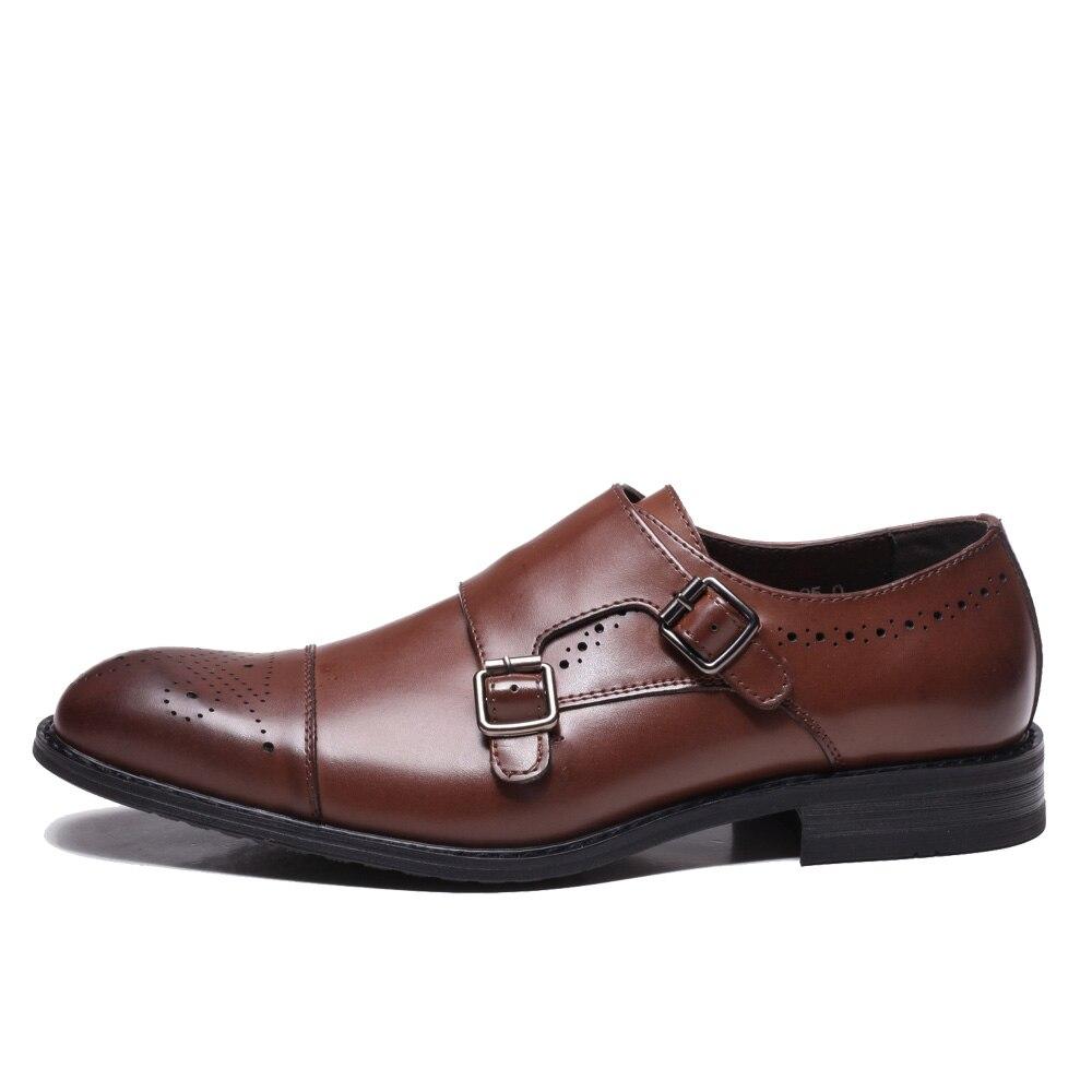 Npezkgc 남성 신발 럭셔리 브랜드 디자이너 정품 가죽 공식 웨딩 드레스 oxfords derby flats shoes zapatos hombre-에서포멀 슈즈부터 신발 의  그룹 3