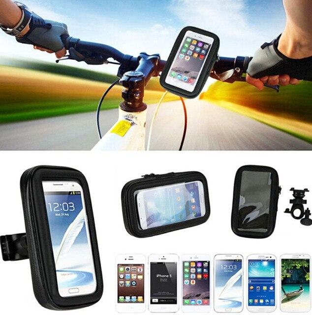 Сенсорный Экран Водонепроницаемый Велосипед Мобильный Телефон Мешки Случаях Держатели Стенды Для alcatel Pixi 4 Плюс Мощность, Gionee M6 Плюс S6