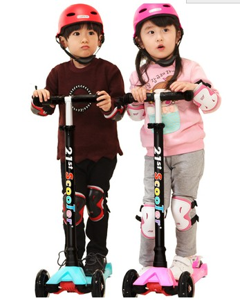 21st scooter children's scooter four round round of the 3 year old baby 2 years old -6 years old child of a vehicle sliding bloc free shipping scooter children 2 15 years old max load 60kg