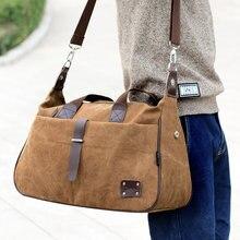 Винтажная холщовая сумка-мессенджер, сумка на плечо для 13 дюймов ноутбука, деловой мужской портфель, сумка для мужчин, сумки для путешествий
