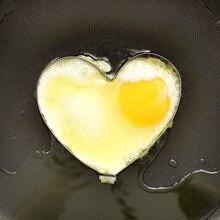 4 unids Forma De Huevos, de Acero inoxidable Herramienta de la Cocina Del Molde Del Huevo Frito Pancake Anillos de Huevo Utensilios de Cocina Gadget