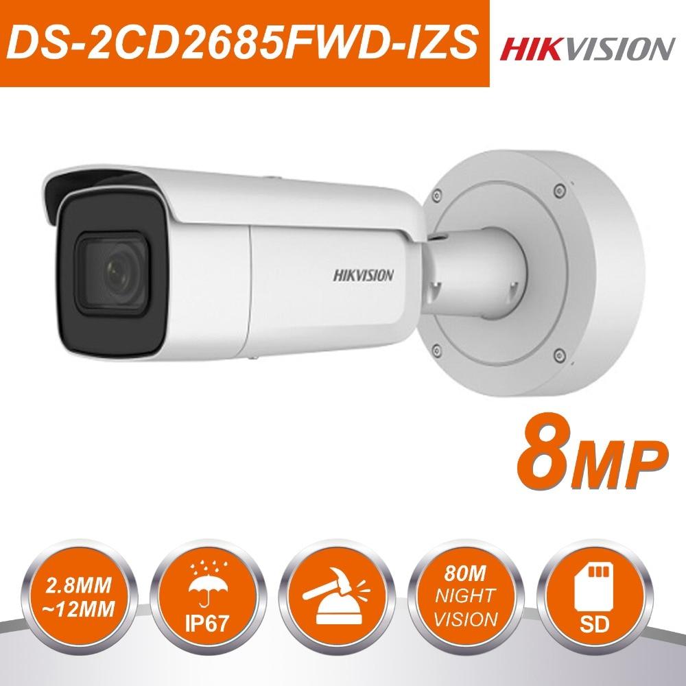 HIK vision DS-2CD2685FWD-IZS 8MP IP Caméra Bullet Réseau POE IP caméra cctv Vari-focal Motorisé Détection De Visage
