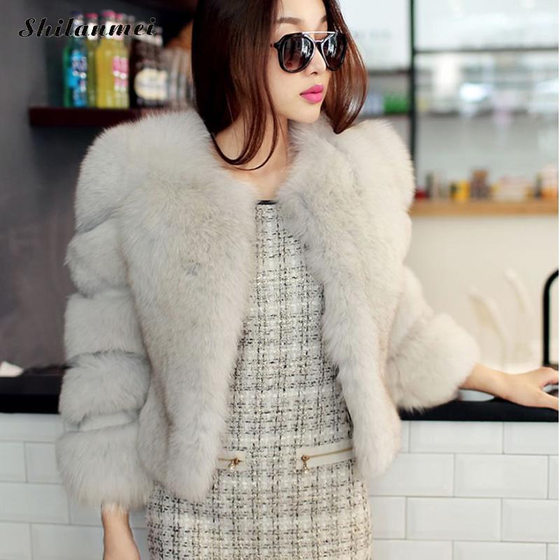 f67f3373ad8 Colored Fur Coats White Blue Faux Fur Coat Women Winter Jacket Black Blue  Short Fur Coat Furry Overcoats Plus Size Fluffy Jacket