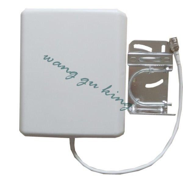 Livraison gratuite 10dBi Intérieur Double Bande GSM/3G Panneau Mural Antenne 800-2500 Mhz pour Téléphone portable Signal Booster Répéteur